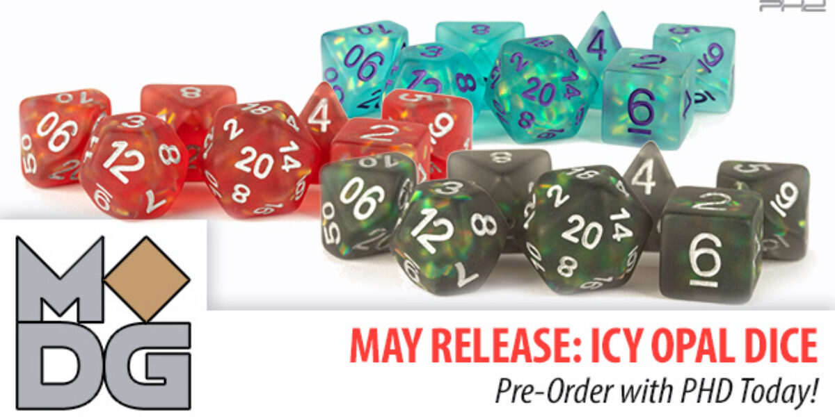 Icy Opal Dice Sets — Metallic Dice Games