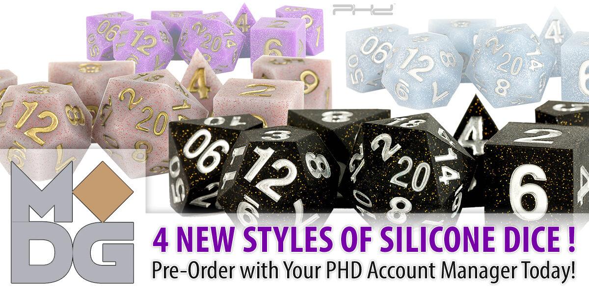 New Sharp-Edge Silicone Rubber Dice — Metallic Dice Games