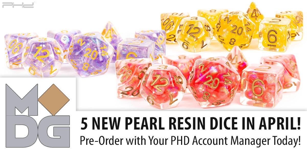 New Pearl Resin Dice — Metallic Dice Games