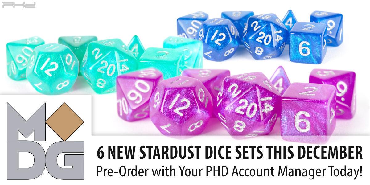 New Stardust Dice Sets — Metallic Dice Games