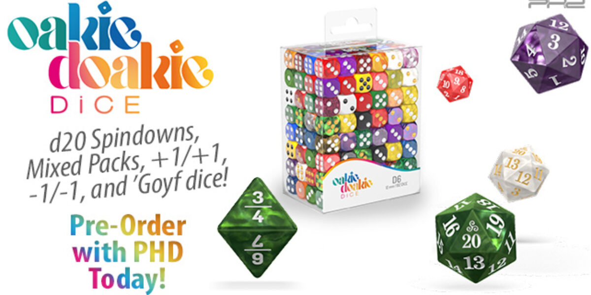d20 Spindowns, Mixed Packs, +1/+1, -1/-1, and 'Goyf Dice — Oakie Doakie Dice