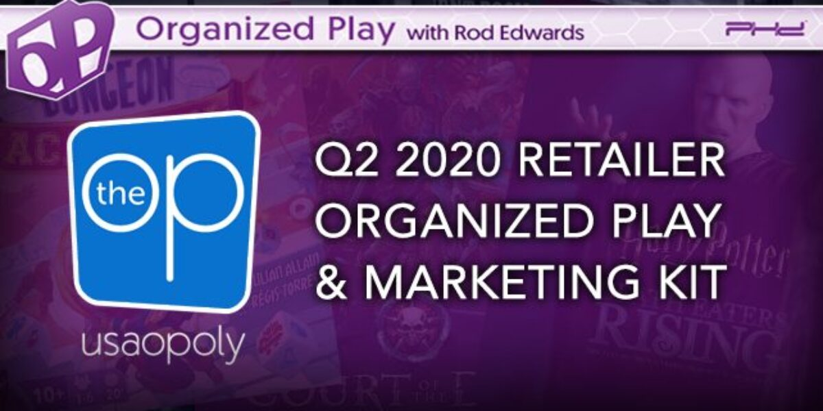 Q2 Organized Play Marketing Kit – The OP (USAopoly)