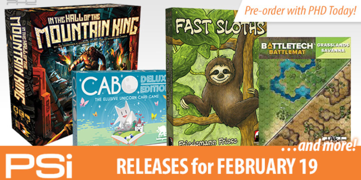 PSI February 19 Releases