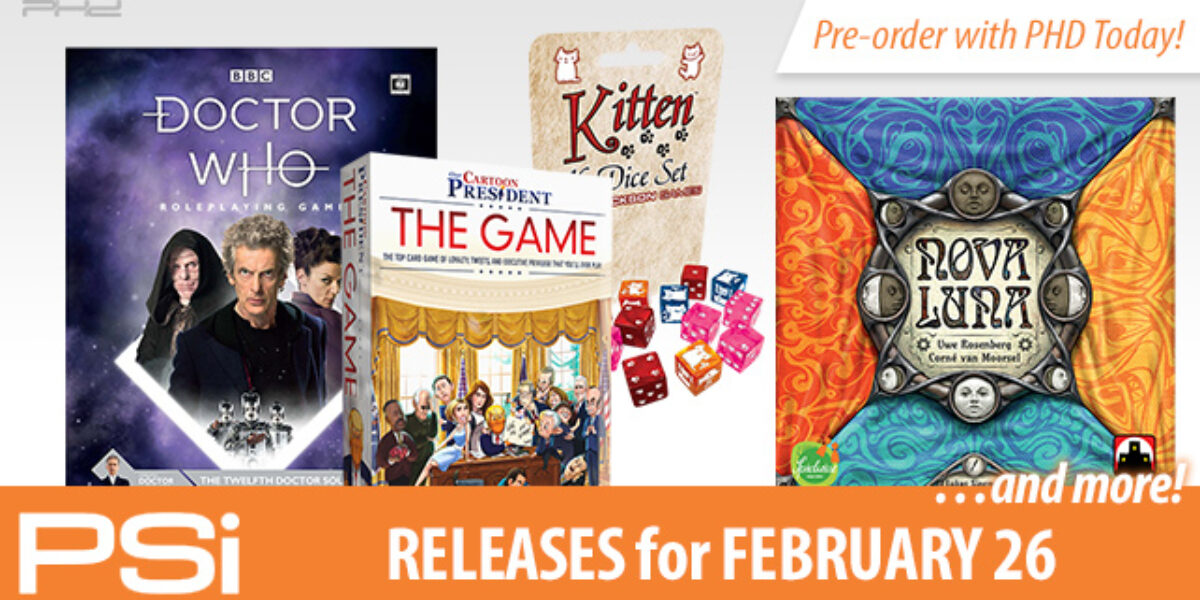 PSI February 26 Releases