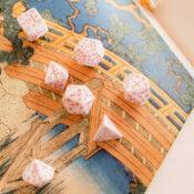 Japanese Dice Set: Cherry Blossom Petals photo 1