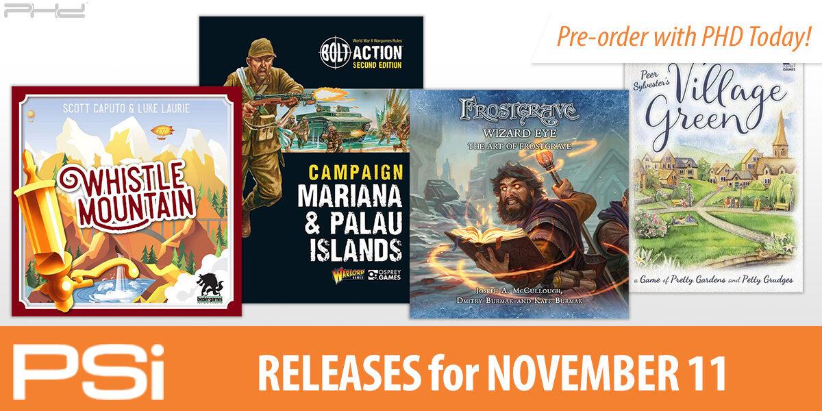 PSI November 11 Releases