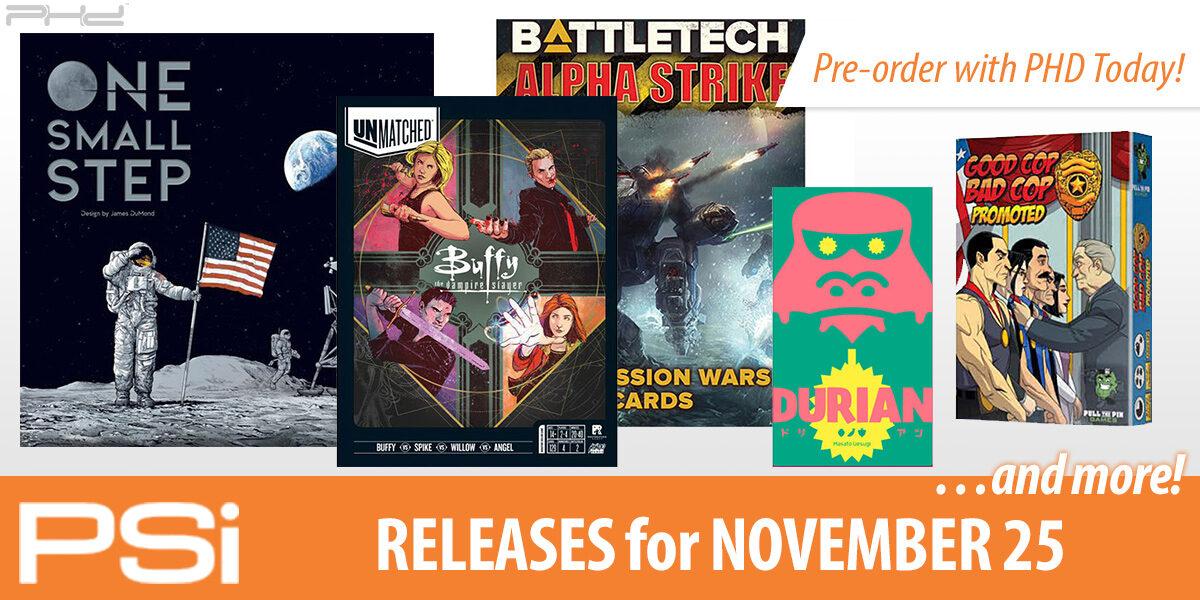 PSI November 25 Releases