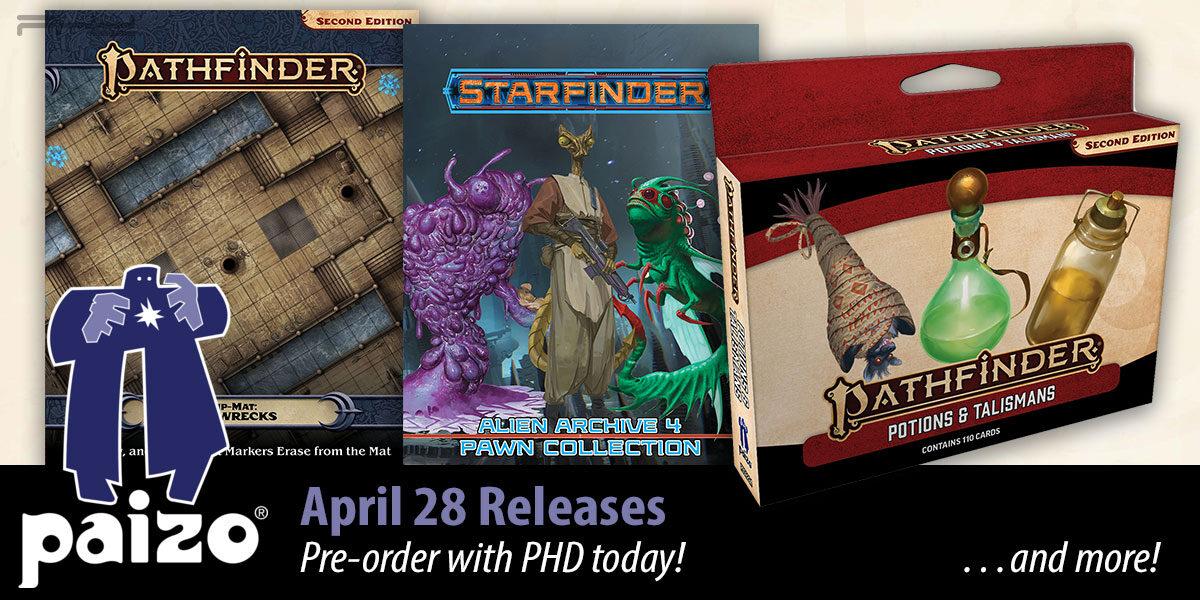 Pathfinder & Starfinder April Releases — Paizo