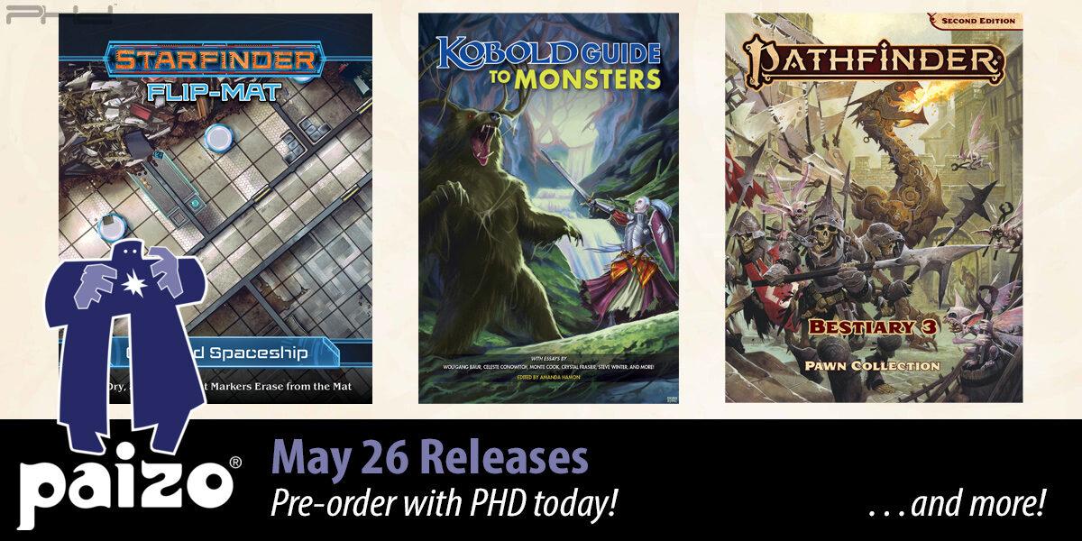 Pathfinder & Starfinder May Releases — Paizo