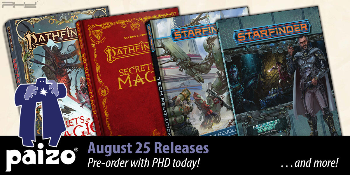 Pathfinder: Secrets of Magic, Starfinder: Tech Revolution, & More — Paizo