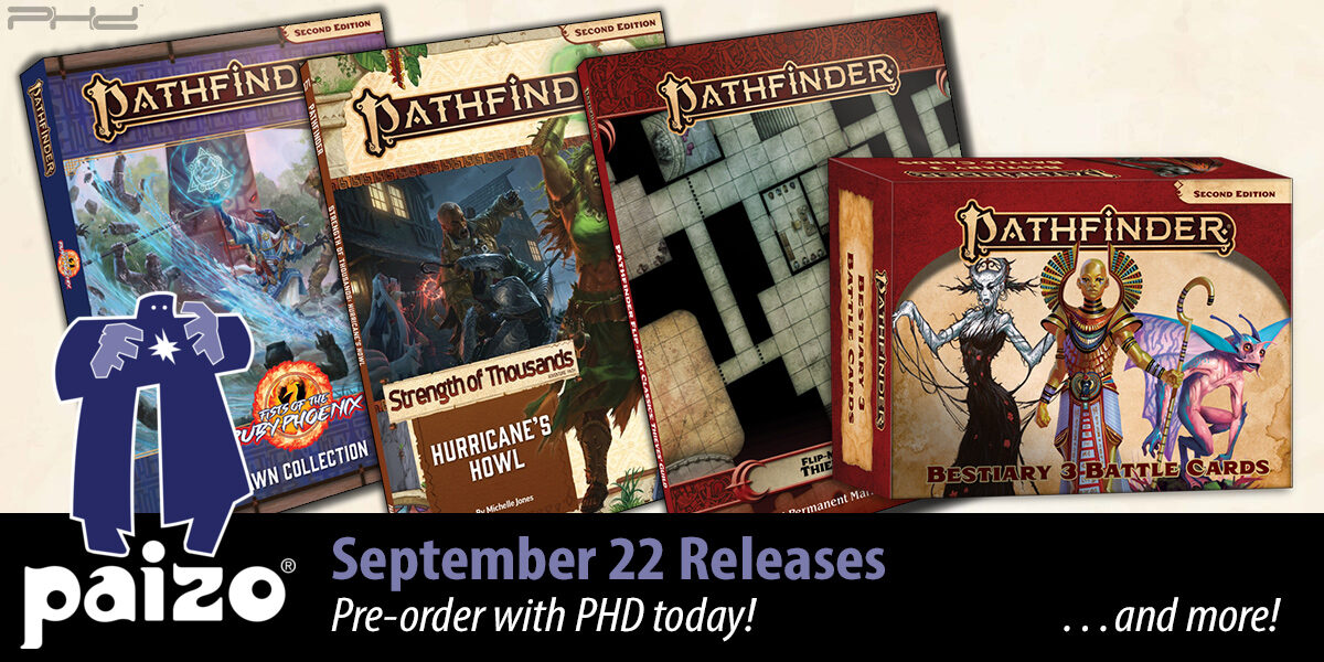 Pathfinder: Bestiary 3 Battle Cards, Space Colony Flip-Mat, & More — Paizo