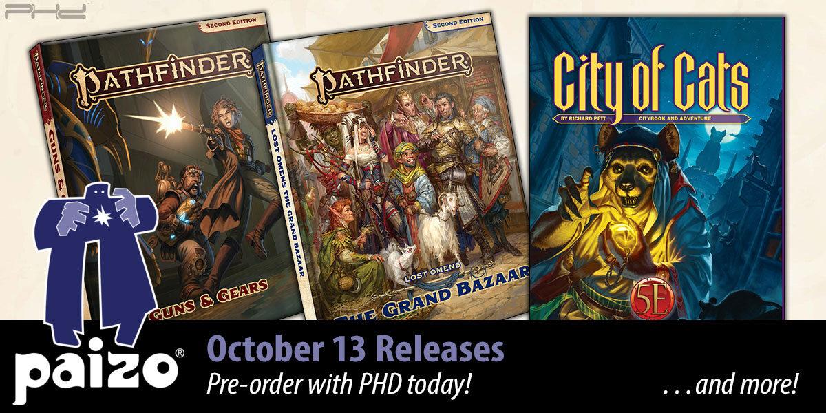 Pathfinder Guns & Gears, City of Cats 5E, & More! — Paizo
