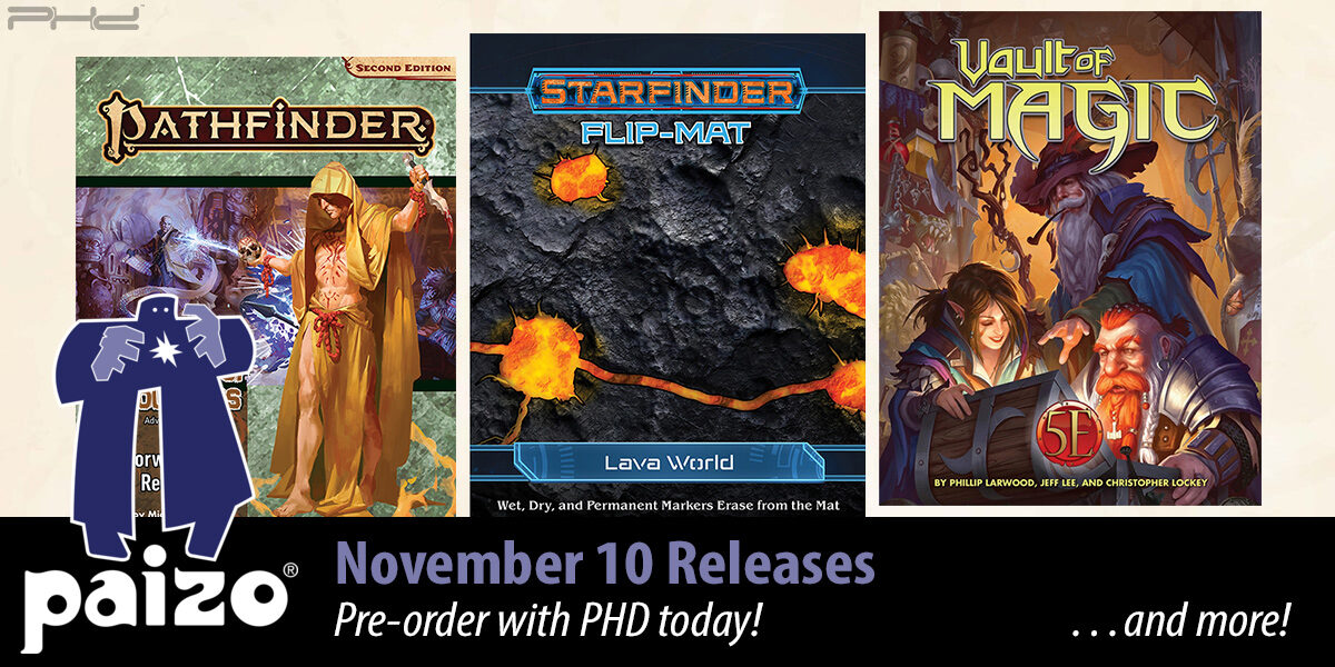 Pathfinder Vault of Magic 5E, Lava World Flip-Mat & More! — Paizo