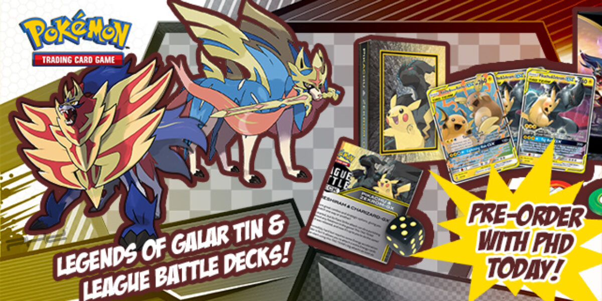 Legends of Galar Tin & League Battle Decks — Pokémon