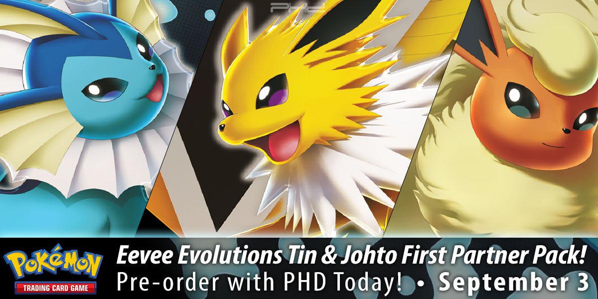 Eevee Evolutions Tin & First Partner Pack (Johto) — Pokémon TCG
