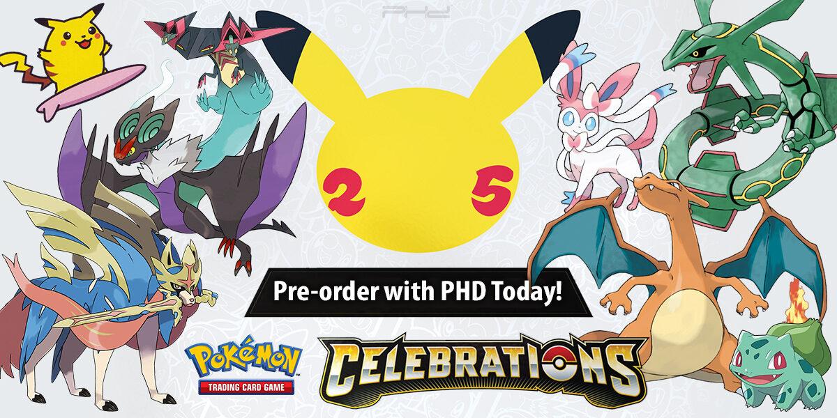 Pokémon Celebrations, Kanto First Partner Pack, & More
