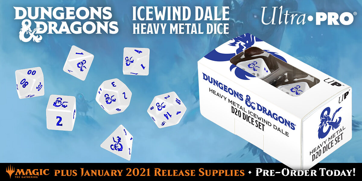D&D Icewind Dale Heavy Metal Dice & MTG January 2021 Accessories — Ultra•PRO