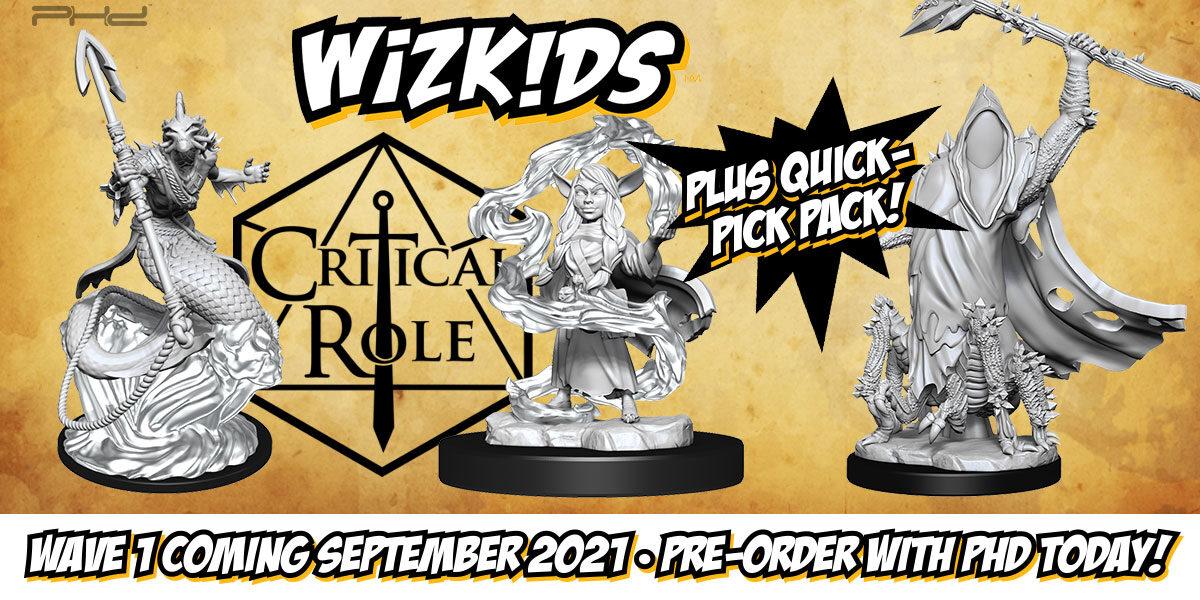 Critical Role Unpainted Miniatures, Wave 1 — WizKids