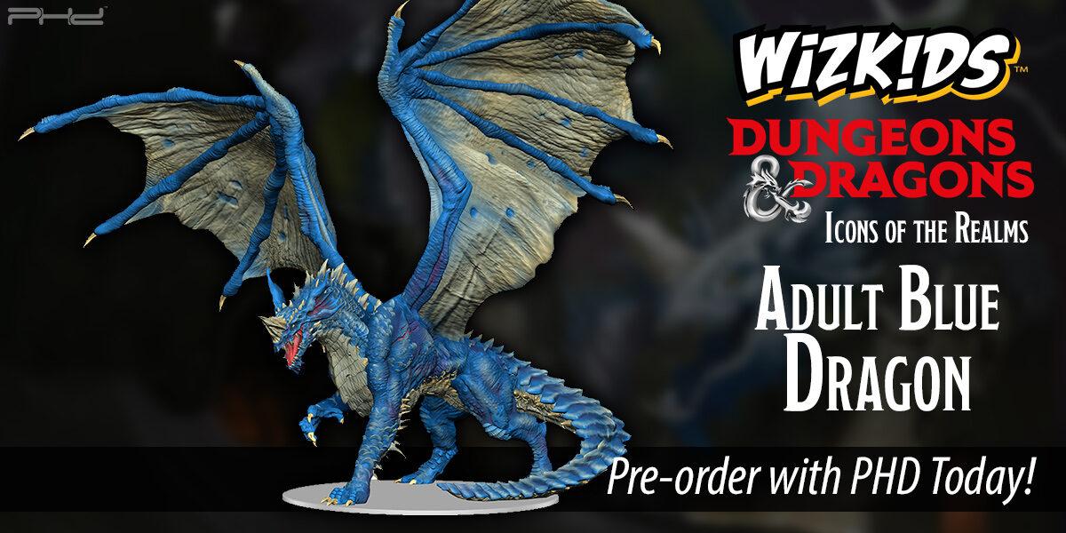 D&D Icons of the Realms: Adult Blue Dragon Premium Figure — WizKids