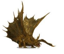 Adult Gold Dragon Figure