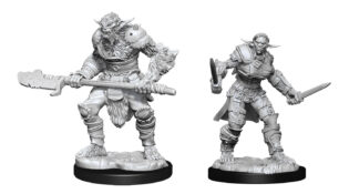 Bugbear Barbarian Male & Bugbear Rogue Female (WZK90311)