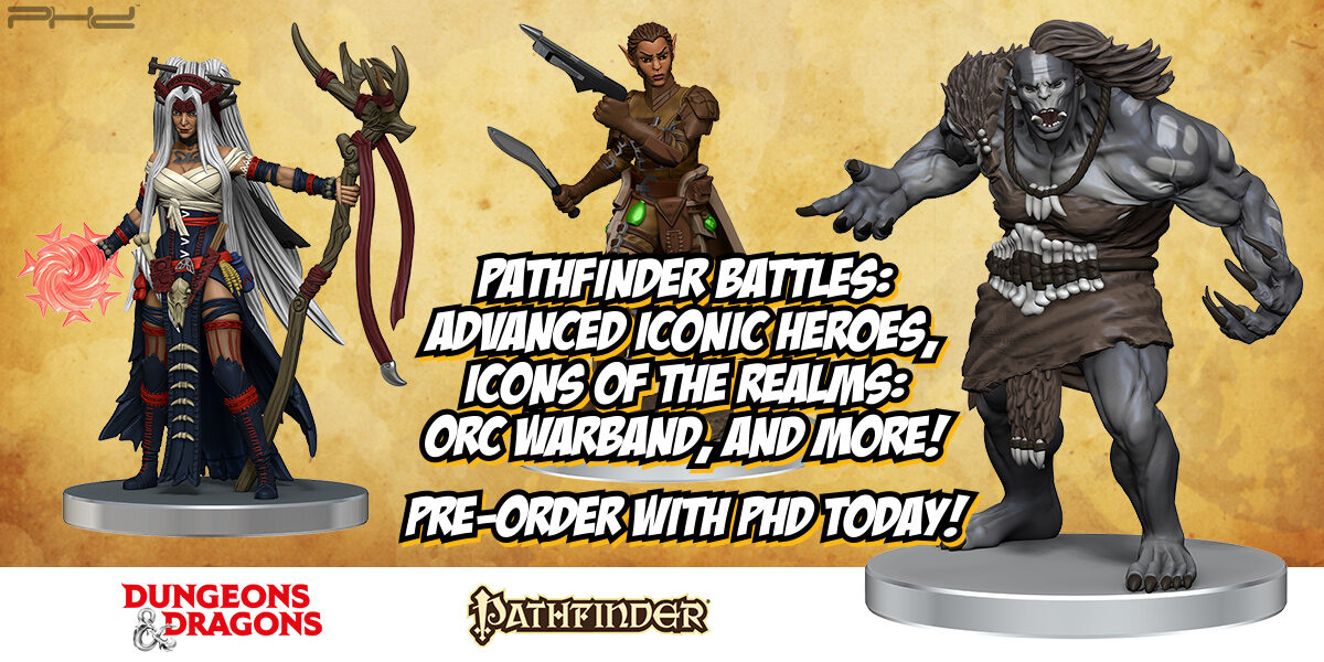D&D Icons of the Realms & Pathfinder Battles Prepainted Minis — WizKids